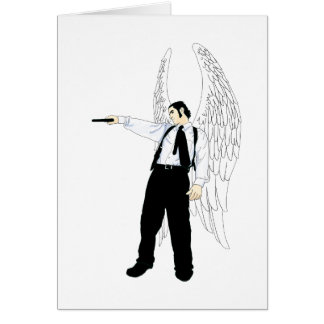 God s Hitman Angel With a Pistol Cards