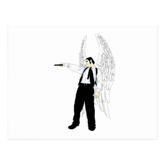 God s Hitman Angel With a Pistol Post Cards