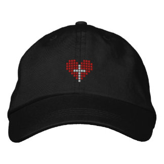God s Love Hat - Cross plus Heart Embroidered Hats