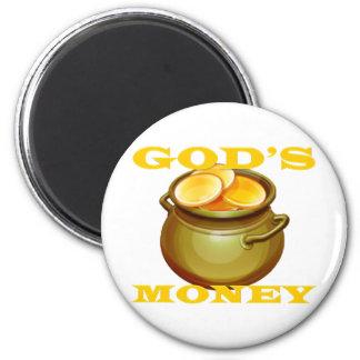 God s money refrigerator magnet