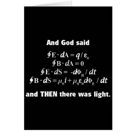God Said Let There Be Light Religious Satire Card