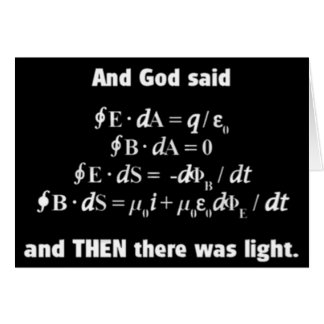 God Said Let There Be Light Religious Satire Greeting Card