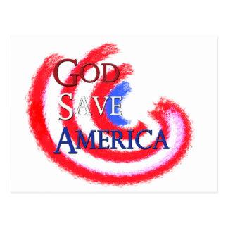 God Save America Postcard