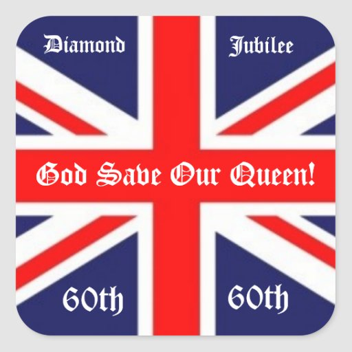 God Save Our Queen!-60 years/British Flag Stickers