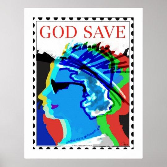 God save poster art/print