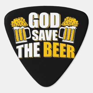 god save the beer guitar pick