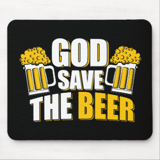 god save the beer mouse pad
