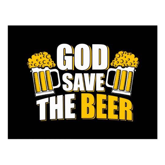 god save the beer postcard
