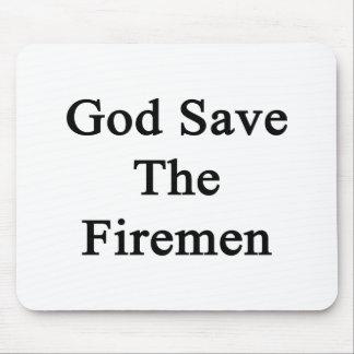 God Save The Firemen Mousepads