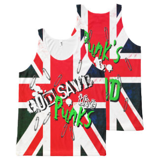 God Save the Punk's Not Dead Grunge Union Jack All-Over Print Tank Top