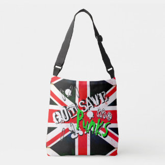 God Save the Punk's Not Dead Grunge Union Jack Crossbody Bag