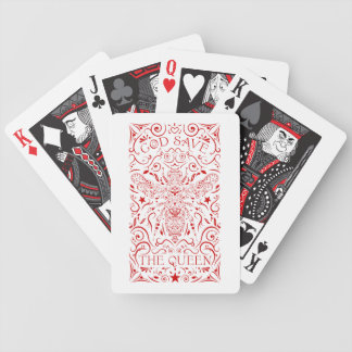 god save the queen bee bicycle playing cards