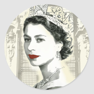 God Save the Queen Classic Round Sticker