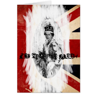 God Save the Queen punk grunge Cards