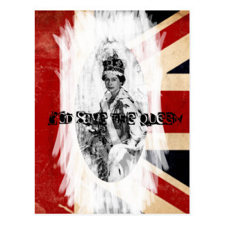 God Save the Queen punk/grunge Postcard