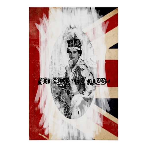 God Save the Queen punk/grunge Print