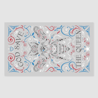 god save the queen rectangular sticker