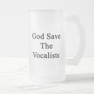 God Save The Vocalists Frosted Glass Mug
