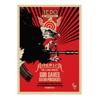 """God Saves & Satan Purchases"" Poster"