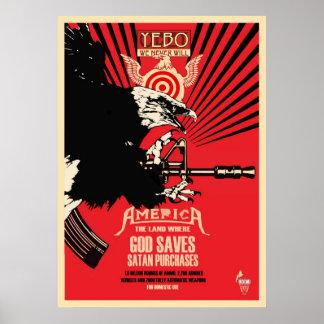 """God Saves & Satan Purchases"" Poster"