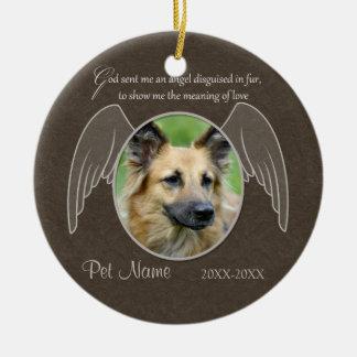 God Sent an Angel Pet Sympathy Custom Christmas Ornament