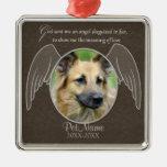 God Sent an Angel Pet Sympathy Custom Silver-Colored Square Decoration