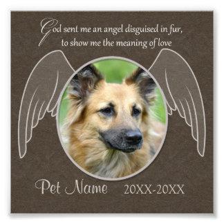 God Sent an Angel Pet Sympathy Custom Photo Print