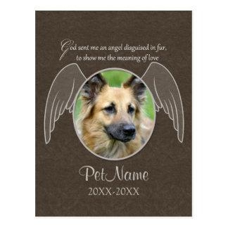God Sent an Angel Pet Sympathy Custom Post Card