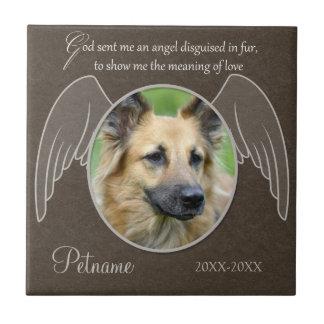 God Sent an Angel Pet Sympathy Custom Small Square Tile