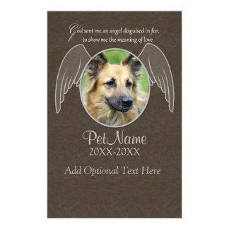 God Sent an Angel Pet Sympathy Custom Personalized Stationery