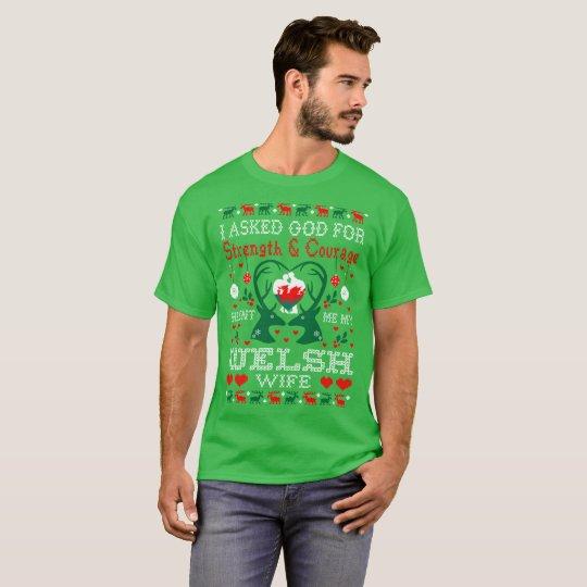 God Sent Welsh Wife Christmas Ugly Sweater Shirt