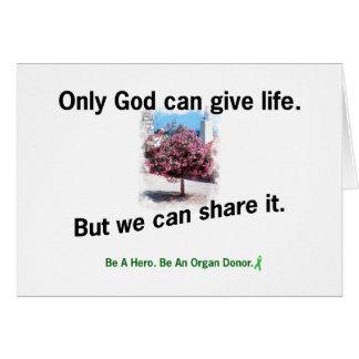 God Sharing Life Card