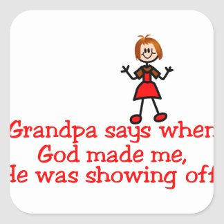 God Showing Off Square Sticker
