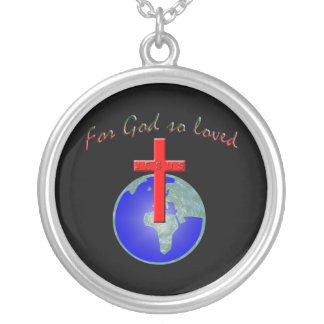 God so loved silver plated necklace