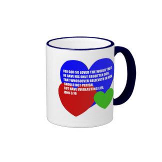 God So Loved the World Bible Verse Coffee Mug