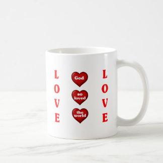 God so loved the world mugs