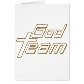God Team 2 terre 2 Greeting Card