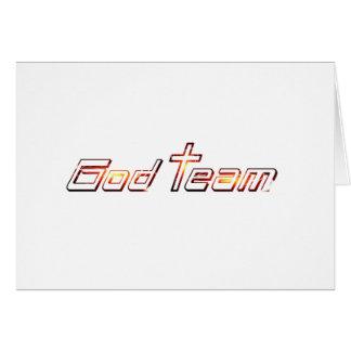 God Team Orange Greeting Card