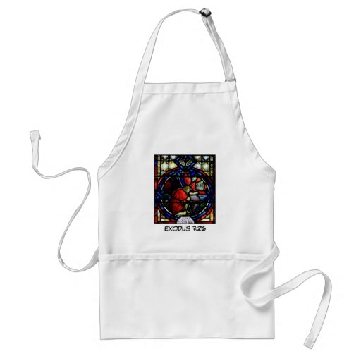 God Tells Moses to Go to Egypt Stained Glass Art Aprons