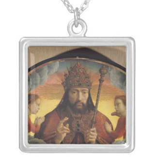 God the Father Blessing, 1506 Silver Plated Necklace