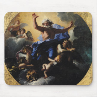 God the Father Carried by Angels Mouse Mat