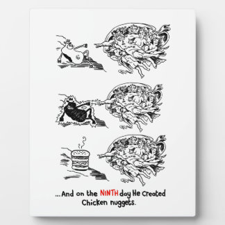 God Vs Fast Food Plaque
