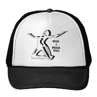 God Where Are You I Need You Now Mesh Hats