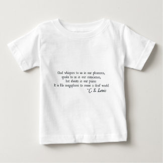 God Whispers to us in our Pleasures T-shirt