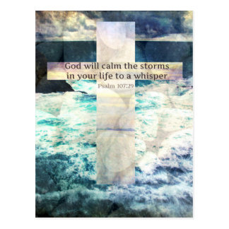 God will calm the storm in your life to a whisper postcard