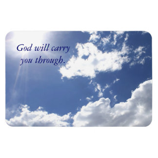 God Will Carry You Sunlight Inspirational Rectangular Photo Magnet