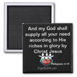 God will supply your need gotGod316.com Scripture Fridge Magnet