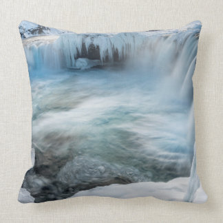 Godafoss waterfall, winter, Iceland 2 Cushion