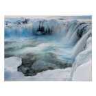 Godafoss waterfall, winter, Iceland 2 Poster