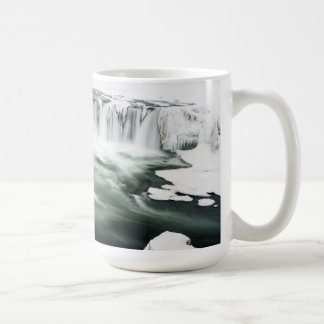 Godafoss waterfall, winter, Iceland Coffee Mug